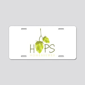 Homebrewer Aluminum License Plate