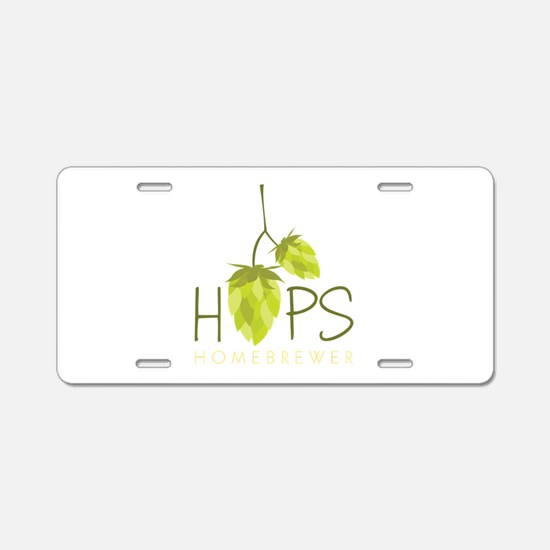 Homebrewer Aluminum License Plate
