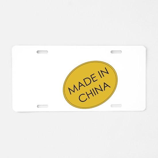Madeinchina.png Aluminum License Plate