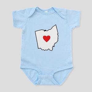 I Love Ohio Infant Bodysuit