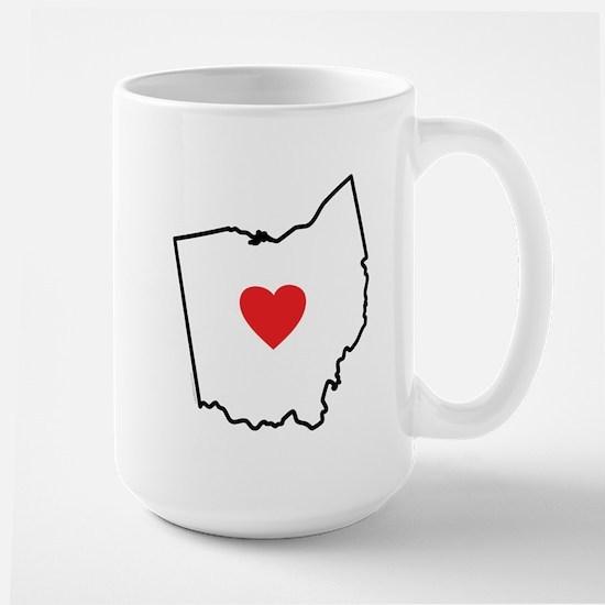 I Love Ohio Large Mug