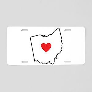 I Love Ohio Aluminum License Plate