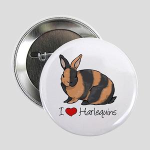"I Heart Harlequin Rabbits 2.25"" Button"