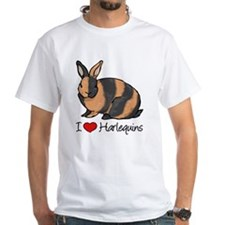 I Heart Harlequin Rabbits T-Shirt