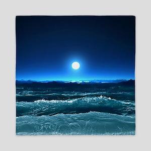 Moonlight Waves Queen Duvet