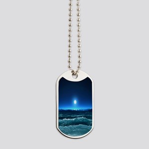 Moonlight Waves Dog Tags