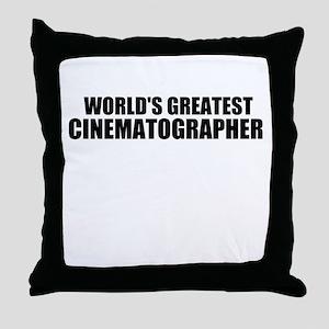 World's Greatest Cinematographer Throw Pillow