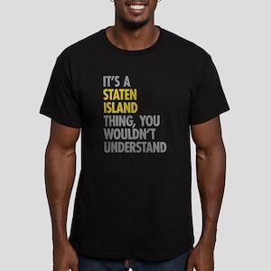 Staten Island Thing Men's Fitted T-Shirt (dark)