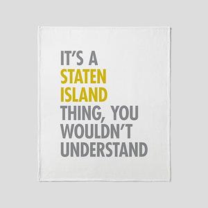 Staten Island Thing Throw Blanket
