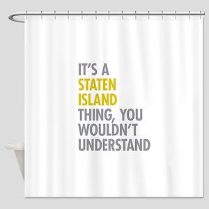 Staten Island Thing Shower Curtain