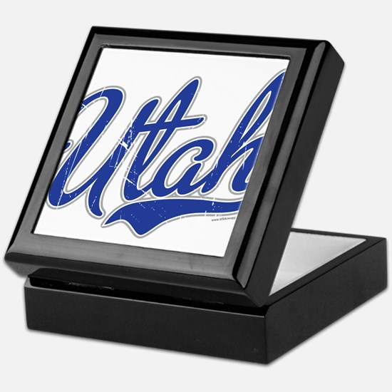 Utah State Script Font Keepsake Box