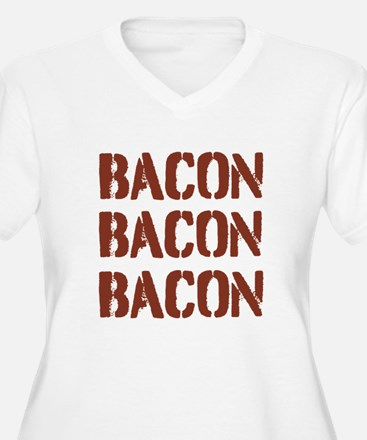 Bacon Bacon Bacon Plus Size T-Shirt