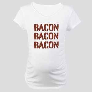 Bacon Bacon Bacon Maternity T-Shirt