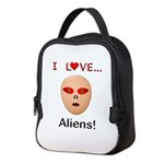 I Love Aliens Neoprene Lunch Bag