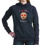 I Love Aliens Women's Hooded Sweatshirt