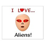 I Love Aliens Small Poster