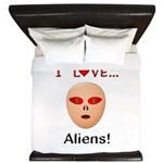 I Love Aliens King Duvet