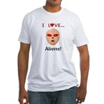 I Love Aliens Fitted T-Shirt