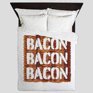 Bacon Bacon Bacon Queen Duvet
