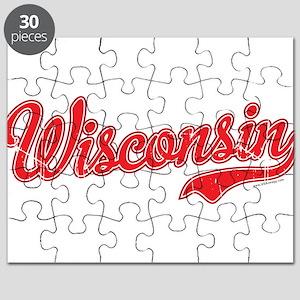 Wisconsin Script Font Puzzle