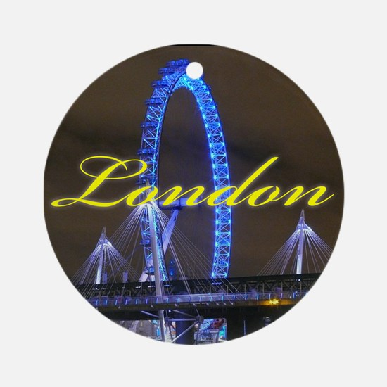 The London Eye - Pro photo Ornament (Round)