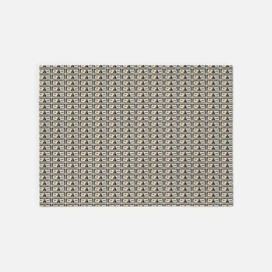 100,000 dollar notes 5'x7'Area Rug