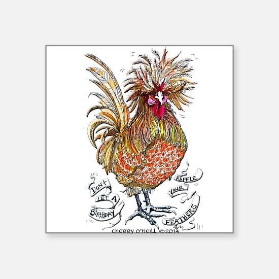 Chicken Feathers Sticker