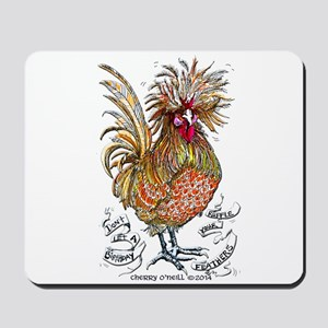 Chicken Feathers Mousepad