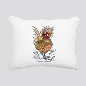 Chicken Feathers Rectangular Canvas Pillow