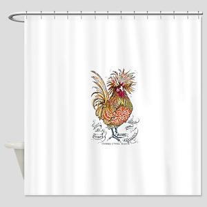 Chicken Feathers Shower Curtain