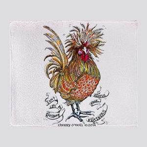 Chicken Feathers Throw Blanket