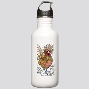 Chicken Feathers Water Bottle