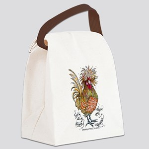 Chicken Feathers Canvas Lunch Bag