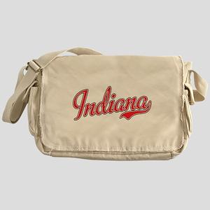 Indiana Script Font Red Messenger Bag