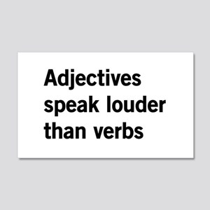 adjectives speak louder than words Wall Decal