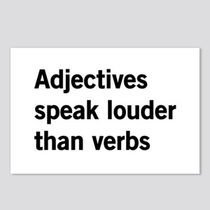 adjectives speak louder than words Postcards (Pack