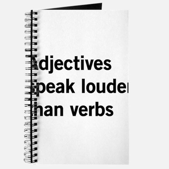 adjectives speak louder than words Journal