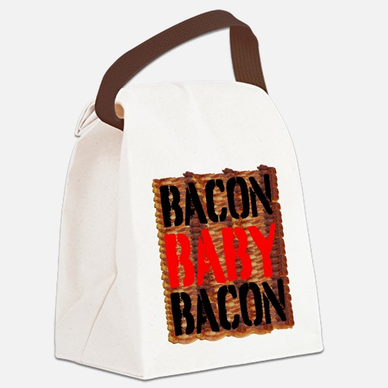 Bacon Baby Bacon Canvas Lunch Bag