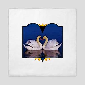 Heart Swans Queen Duvet