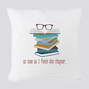 This Chapter Woven Throw Pillow