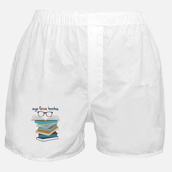 Eye Love Books Boxer Shorts