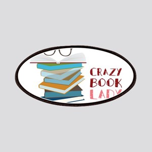 Crazy Book Lady Patches