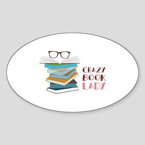 Crazy Book Lady Sticker