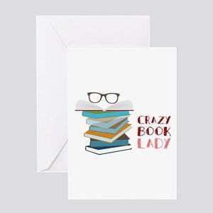 Crazy Book Lady Greeting Cards