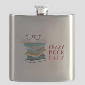 Crazy Book Lady Flask