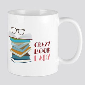 Crazy Book Lady Mugs