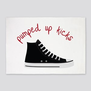 Pumped Up Kicks 5'x7'Area Rug