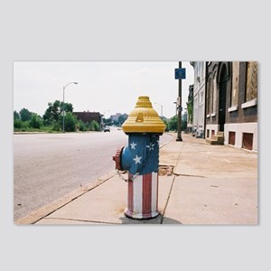 Broadway fire hydrant -ST Postcards (Package of 8)