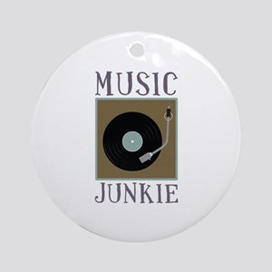 Music Junkie Ornament (Round)
