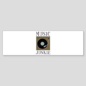 Music Junkie Bumper Sticker